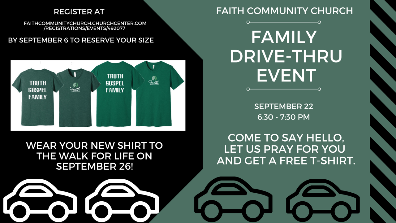 Faith Drive-thru Event