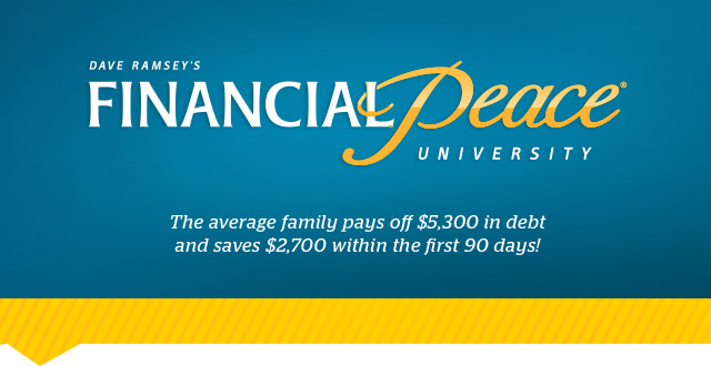 Financial Peace University Starting March 3rd